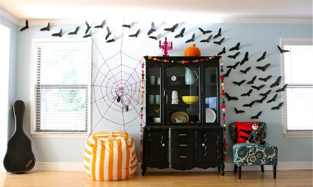 украшаем квартиру на хэллоуин