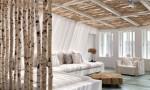 деление комнаты на зоны с использованием натуральных материалов