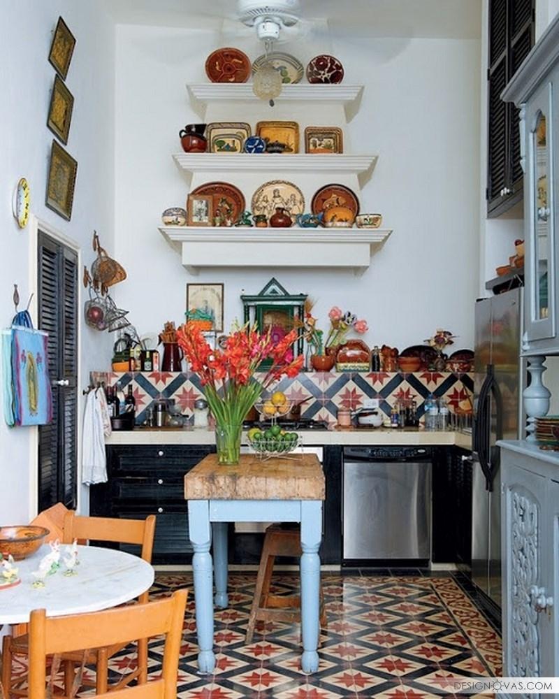Lively-Boho-Chic-Kitchen