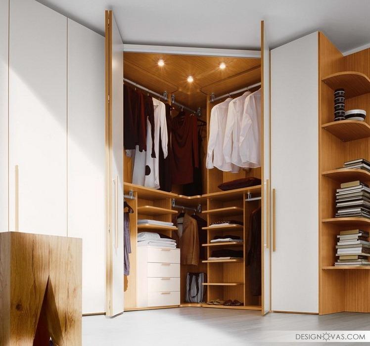 Небольшой угловой шкаф для спальни дизайн